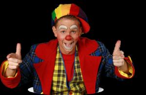 Michiel als clown